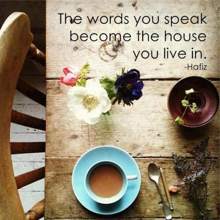 Words you speak