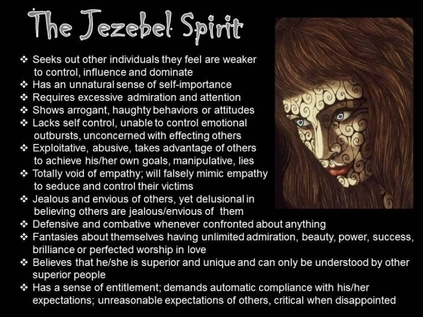 Jezebels Are Androgynous Narcissists | Prayers and Promises