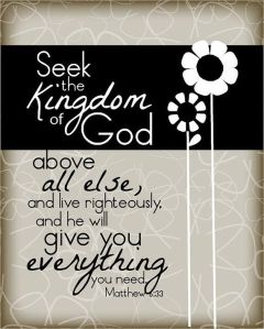 Seek the Kingdom