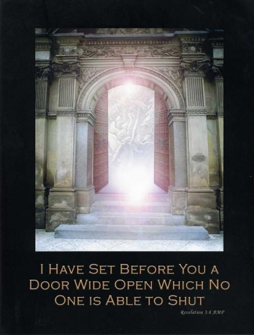 The Door of Opportunity is Open