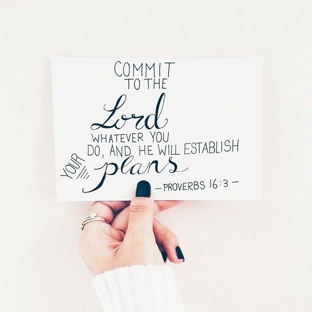 Proverbs 16-3