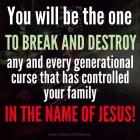 You can break curses