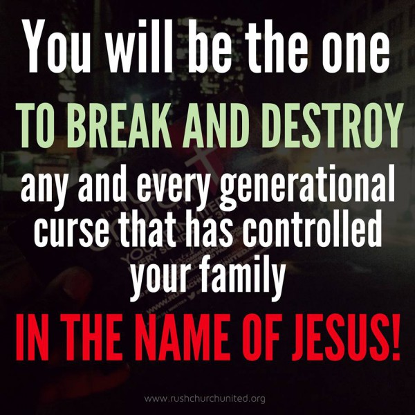 Cleaning House By Breaking Generational Curses