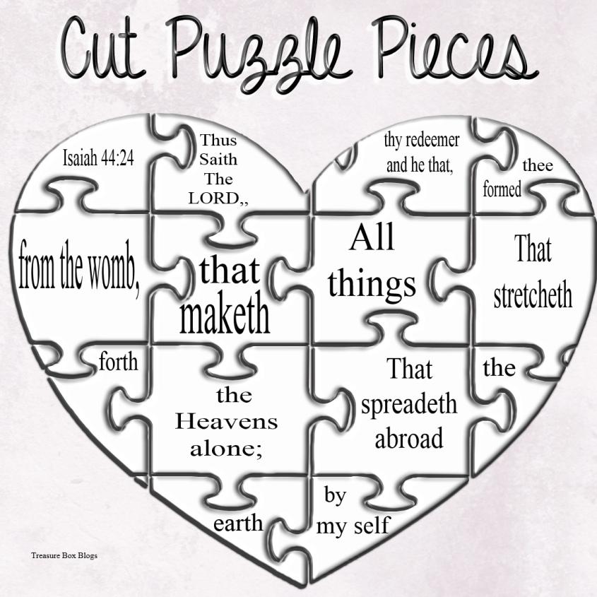 Isaiah 44-24 Puzzle Pieces