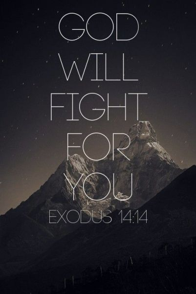 God will fight